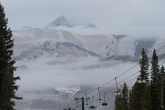 Cloudy look down the Mountain. Crested Butte, Colorado.