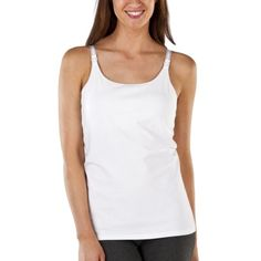 These Target nursing tanks are inexpensive ($20) and long enough to cover a postpartum belly. Tanks are nice in that you can lift your shirt to nurse without exposing the warzone that is your midsection. As the months wore on I found it a little TOO long and it started looking pretty stretched out in places, but for twenty bucks it put up with a lot of wear and tear.