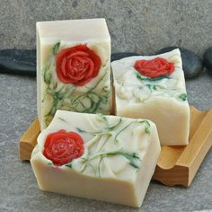 Champagne and Roses Cold Process Soap Made with by AlaiynaBSoaps
