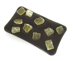 one of my favourite bars, dark french chocolate with chinks of spicy crystallised ginger chunks