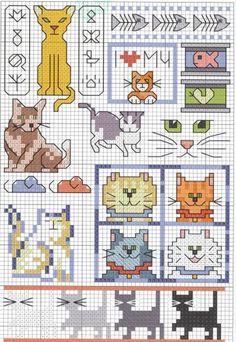 Schema punto croce Gatti