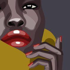 42 Realistic Illustration Works - New Illustration Pop Art, Illustrations, Illustration Fashion, Tableau Pop Art, Art Quotes Artists, Art Africain, Black Artwork, Guache, Afro Art