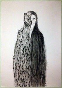 The Owl, the Bat and the Bumblebee , Caroline Vitelli Inspiration Art, Art Inspo, Selling Art Online, Owl Art, Wire Art, Heart Art, Art Plastique, Painting & Drawing, Drawing Tips