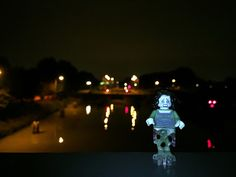 Wilhelmina Canal Banshee. Lego Minifigures 14 Monsters Banshee photographed at night in October at the Wilhelmina Canal in Tilburg to celebrate Halloween #WilhelminaCanalBanshee #LegoMinifigures14Monsters #LegoMinifigures14 #Lego14 #Banshee #night #October #WilhelminaCanal #Tilburg #Wilhelmina #canal #Netherlands #Nederland #Halloween