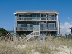 Find nirvana with the #oceanfront views from the porch swing of this beautiful oceanfront duplex, Shore Faith East, located in Emerald Isle.