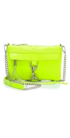 Rebecca Minkoff mini mac neon yellow