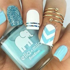 Make your short nails even more beautiful & colorful with Short Gel Nail Art designs. Here are the best Gel Nail Art designs for short nails. Nagellack Design, Nagellack Trends, Cute Acrylic Nails, Acrylic Nail Designs, Acrylic Summer Nails Beach, Shellac Nail Designs, Acrylic Tips, Pedicure Designs, Bright Nail Art