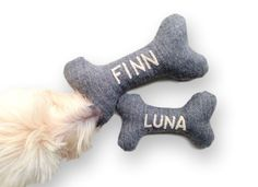 Dog Toy  Personalized Pet Toy with Embroidered by HitherRabbit
