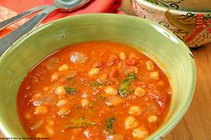 Chickpeas and Navy Beans in Spicy Tomato Sauce by Kirsten| My Kitchen in the Rockies