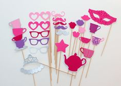 Princess Tea Party Photo Booth Props  Perfect by PAPERandPANCAKES, $35.00
