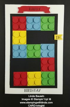 Lego Birthday Card  Linda Bauwin Your CARD-iologist Helping you create cards from the heart.