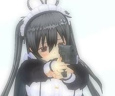 Vr Anime, Anime Guys, Cute Anime Pics, Cute Anime Couples, Darkness Anime, Walpapers Cute, Anime Monochrome, Anime Maid, Arte Obscura
