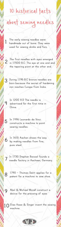 History of the sewing needle!