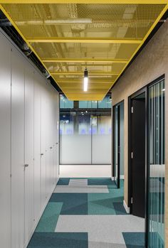 """Mobile game developer Product Madness recently hired workplace design firm Oktra to design their new office in London, England. """"The brief centred around Cool Office Space, Office Space Design, Workspace Design, Office Interior Design, Office Ceiling Design, Corporate Office Design, Corporate Interiors, Office Interiors, Flur Design"""