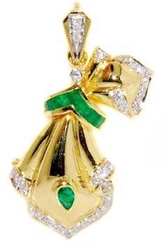 Gemstone Emerald Brooch/Pendant Diamond 18K Yellow Gold [... https://www.amazon.com/dp/B00CJUVXIW/ref=cm_sw_r_pi_dp_MxcHxbAWXA9SP