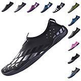 YQXCC Water Shoes Mens Womens Quick Drying Slip-On Aqua Shoes for Beach Surf Swim Driving Boating Yoga (10 B(M) US Women/9 D(M) US Men Black1) -  YQXCC Water Shoes Mens Womens Quick Drying Slip-On Aqua Shoes for Beach Surf Swim Driving Boating Yoga (10 B(M) US Women/9 D(M) US Men Black1)  Product Description Our quick dry water shoes are made of high quality rubber with thick foam arch-support inside them. Ergonomic design and stretchy material give you breathable and skin-touch feeling…