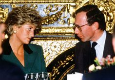 Diana with her Brother In Law, the Queen's then Private Secretary, Robert Fellowes.  He is now a Baron.