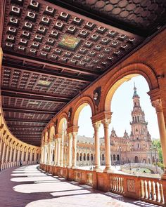 Spain is dazzling and distinctive, accept your inner art dork at El Prado in The city, walk the active pathway along side Mediterranean sea in Barcelona . Places To Travel, Travel Destinations, Places To Visit, Travel Tips, Monuments, Backpacking Spain, Andalucia Spain, Seville Spain, Cities In Europe