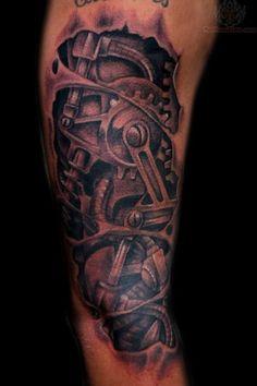 Mechanical Car Parts Tattoo