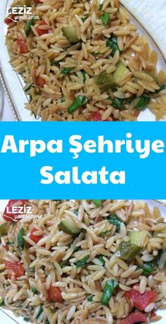 Arpa Şehriye Salata – Leziz Yemeklerim – Salata meze kanepe tarifleri – The Most Practical and Easy Recipes Broccoli Pesto, Noodle Salad, Snacks Für Party, Creative Food, Salad Recipes, Noodles, Food And Drink, Veggies, Yummy Food