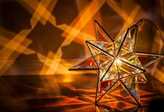 Zakay Glass Luminary Sculpture - 'Castor' Medium - Glass type 'Dichroic Clear'