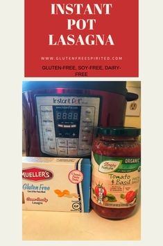 Looking for Instant Pot recipes? Try this easy one for Instant Pot Lasagna that is also gluten-free, soy-free, and dairy-free. Supper Recipes, Quick Recipes, How To Make Lasagna, Traditional Lasagna, Dairy Free Cheese, Simply Organic, Best Instant Pot Recipe, Recipe For Mom, World Recipes