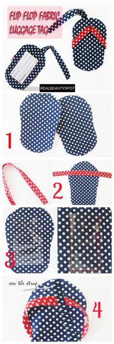 Fabric Travel Luggage Tags tutorial