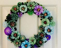 Faux Succulent Wreath Faux Succulents Pine Cone And Pine