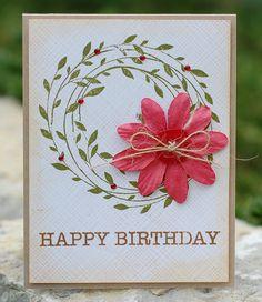add lumpy flower to Hero Arts wreath (card)