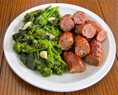 Sauteed broccoli rabe and roasted Sicilian & Calabrese sausages