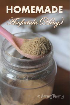Homemade Asafoetida Recipe - How to Make Hing at Home Masala Powder Recipe, Masala Sauce, Masala Recipe, Podi Recipe, Veg Recipes, Indian Food Recipes, Snack Recipes, Cooking Recipes, Cooking Tips