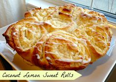 Coconut Lemon Sweet Rolls on MyRecipeMagic.com