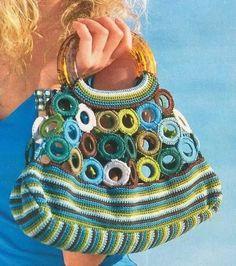 Marvelous Crochet A Shell Stitch Purse Bag Ideas. Wonderful Crochet A Shell Stitch Purse Bag Ideas. Crochet Shell Stitch, Crochet Tote, Crochet Handbags, Crochet Purses, Knit Crochet, Handmade Handbags, Handmade Bags, Crochet Rings, Diy Bags Purses