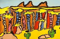 Grand Canyon Art Lesson-this is one of my favorites for grade four.   I started my students with a power point about The Grand Canyon that I made and then we used 12x18 heavy paper.