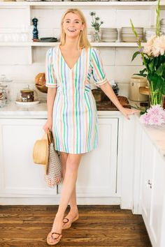 The Spring Tuckernuck CollectionCrafted by our founders, this exclusive collection encourages you to It's a part of our larger mission to bring you high-quality pieces that are cool, effortless, comfortable, and stylish. Casual Dresses, Fashion Dresses, Short Sleeve Dresses, Pant Shirt, Jeans For Sale, Striped Dress, Couture, Lingerie, How To Wear
