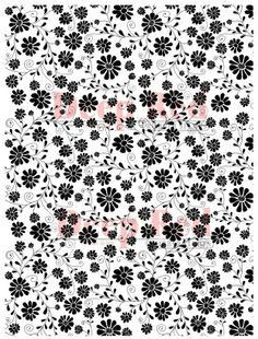 $5.99. Oozak.com | Background Stamps | DPR46-00085 | DEEP RED STAMPS - Cling Rubber Background Stamp, DAISY PRINT