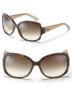 """Dior """"Granville"""" Oversized Two-Tone Sunglasses 