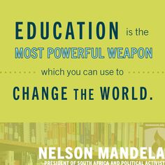 By Nelson Mandela, Nobel Peace Prize winner with de Klerk. Two very brave men who saved South Africa from chaos.