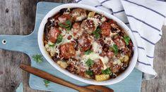 Tepsis bab húsgombócokkal - Receptek | Ízes Élet - Gasztronómia a mindennapokra Vegetable Pizza, Pork, Vegetables, Ethnic Recipes, Kale Stir Fry, Vegetable Recipes, Pork Chops, Veggies