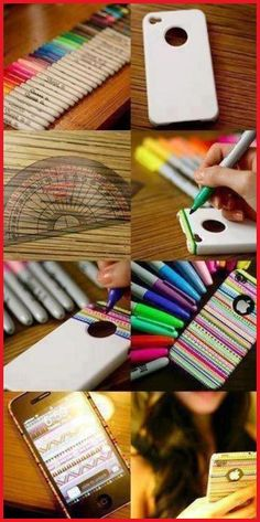 How to make your own iPhone case:  Buy a blank iPhone case and use sharpies to decorate the case however you want.