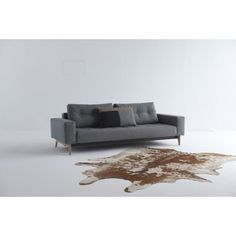 Shown in fabric 563 Twist Charcoal Sofa Beds, Danish Design, Sofa Design, Charcoal, Table, Fabric, Furniture, Home Decor, Tejido