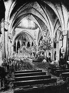 Domingo Interior, Intramuros before the war. Intramuros, Filipiniana, Altars, Vintage Pictures, Manila, Filipino, Historical Photos, Old Photos, 1930s