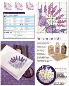 Free small lavender cross stitch pattern #stitching #flower #floral