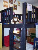 Reading Corners / Classroom Libraries...Hmm...room for a fort?
