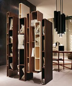 Original design modular wooden bookcase - SKYLINE by Vincenzo De Cotiis - ArchiExpo