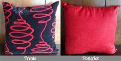 Cojín Negro y Rojo Solo en Domi Design Todo lo que necesitas en Muebles y accesorios de Diseño para tu hogar