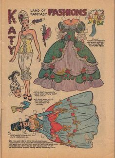 Katy Keene paper doll as Marie Antoinette fashions / eBay * 1500 free paper dolls Arielle Gabriel's International Paper Doll Society paper dolls for my Pinterest pals thanks *