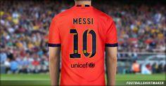 La camiseta visitande del Barcelona de Messi