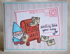 review of new Lawn Fawn stamps, love this card! I want several of these new sets :)