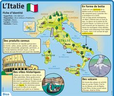Fiche exposés : L'Italie Geography Map, Classroom Behavior Management, French Phrases, Montessori Education, French Classroom, Teacher Supplies, Teaching French, French Language, World History